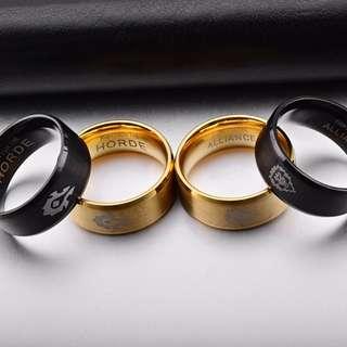 World of Warcraft Rings (Gold/Black Gun Plated)