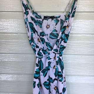 Full Length Floral Dress