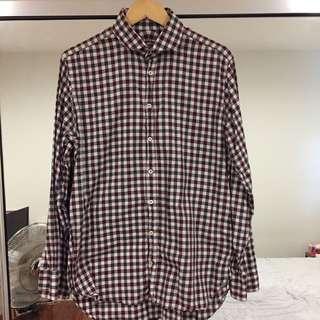 Herringbone Maroon Business / Dress Shirt