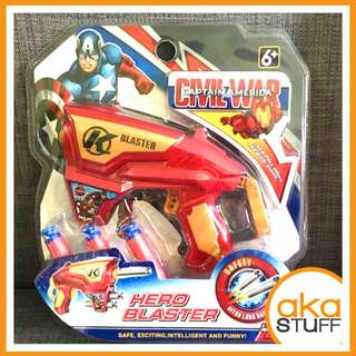 Civil War Captain America Nerf Like Toy Gun with Soft Bullets