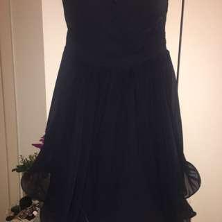 Navy Dotti Dress Size 10