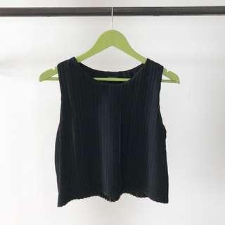 SHOPATVELVET black empress pleated top