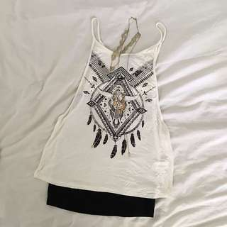 Forever21 Wide-Arm Boho Top