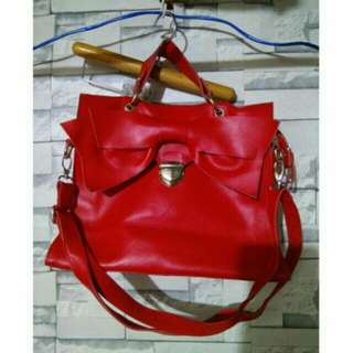 Red 2 way bag