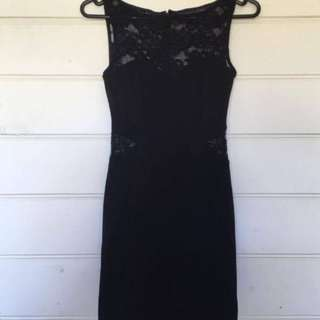 Pretty Lacy Little Black Dress