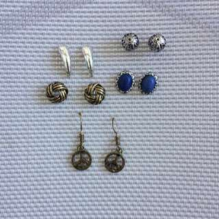 5 pairs earrings