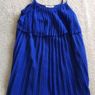 Shoe String Pleated Dress