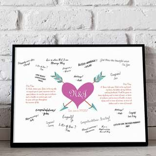 [somegoodwords] Wedding Guest Book Alternative, Wedding Sign, Wedding Gift, Customise, Wedding Stationery, Wedding Poster, Guest Signature, Guest Log Book, Product Code WS 17