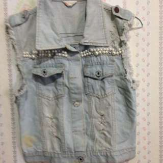Ripped Jeans Vest