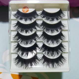 Fake Eyelash Long Dramatic Natural Look Lashes 1 Box 5 Pairs Set @ $4