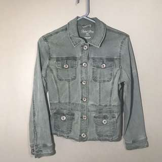 Faded green denim Jacket