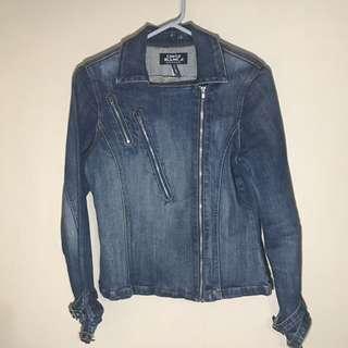Denim Side Zip jacket