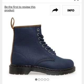 Dr Martens 8孔深藍馬汀鞋