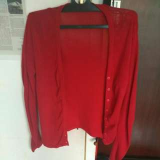 Outer Red Cardigan