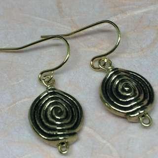 Earrings In Swirls (C109)