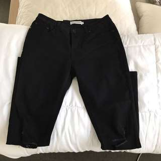 Black Ripped Jeans Size 28