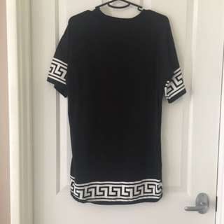 Printed T-shirt Dress Size S-M