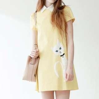 iROO 40 黃色貓咪洋裝
