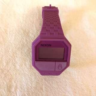 NIXON電子錶 桃紫色