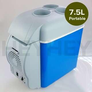 7.5L Car Small Refrigerator Cooler Box 12V Mini Fridge Cooler Warmer Blue Color
