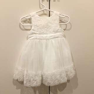Baby Girl White Formal Dress Size 0