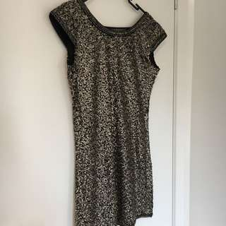 Low Back Sequin Cocktail Dress