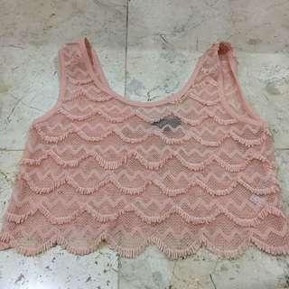 Topshop Dusty Pink Crop
