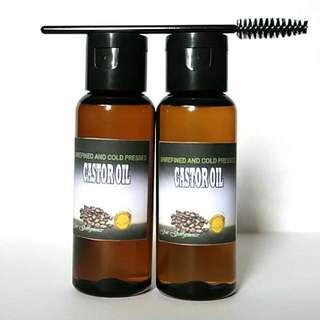 Castor Oil 50ml 💯% Pure Organic w/ FREE Mascara Wand