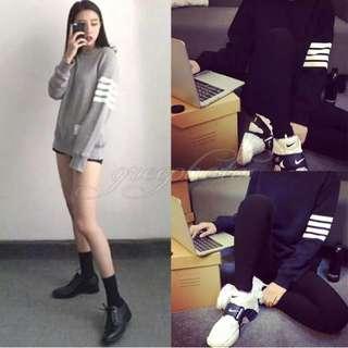 Striped Grey Sweatshirt