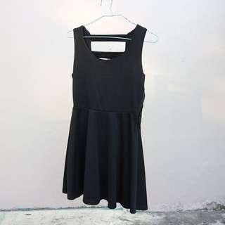 Back-detailed Black Dress