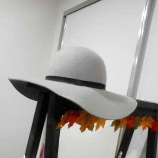 Grey Winter Felt Hat
