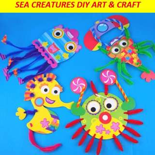 Sea creatures DIY art and craft for kids