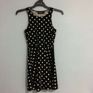 MinkPink Polkadot Velvet Dress