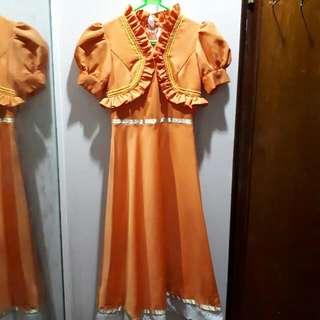 Orange Dress Spanish Costume