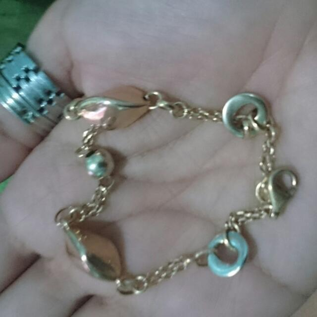 """18k Tricolor  Italy Gold 7.5 8""""(rush Sale)"""