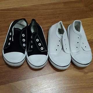 Kids Shoes Kanvas Black & White