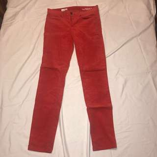 Velvet Feel Red Skinny Jeans Size 6 #THECAFE