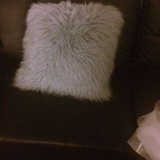 Fluffy Grey Pillow