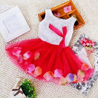 Tutu Dress with Petals and Bow