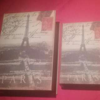 Two Boxes With Paris Print