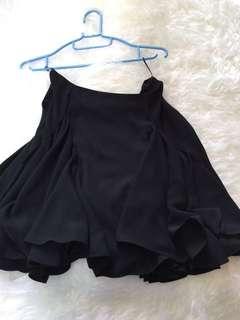 Kenzo Black Silk Pleated Skirt 38