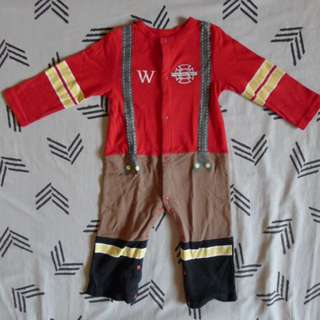 Firefighter or Fireman Costume for 2T or 3T