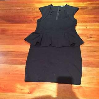 Bardot Peplum Dress
