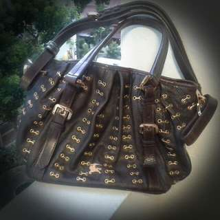 Burberry Brown Leather Bag Authentic
