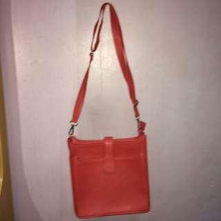 Salmon Pink Satchel Sling Bag