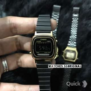 Casio Rare Black Gold Vintage Watch