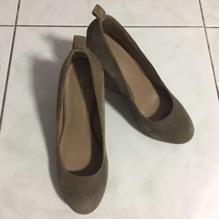 Brown Suede Wedges from ALDO