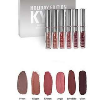 Kylie Holiday Edition Matte Lipstick- 1 for 60. All for 300