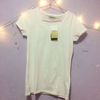 (NEW) Pull&bear White Basic