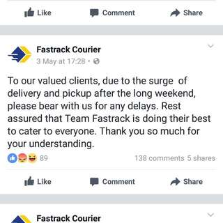TO ALL FASTRACK CUSTOMERS READ THIS